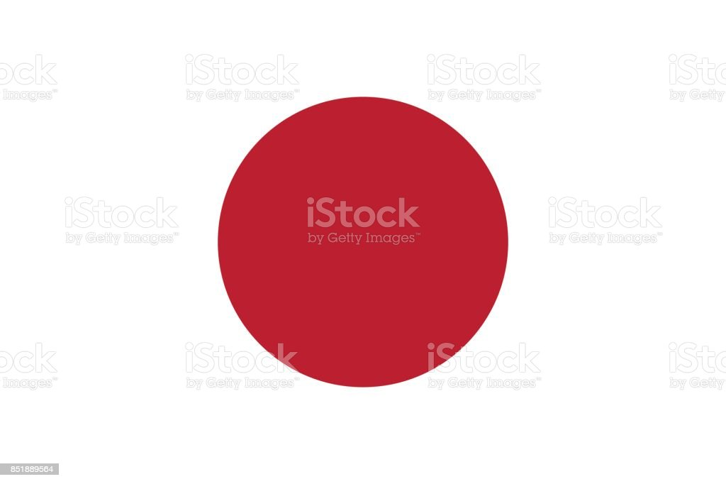 Vector Japanese Flag in Original Ratio and Colors vector art illustration