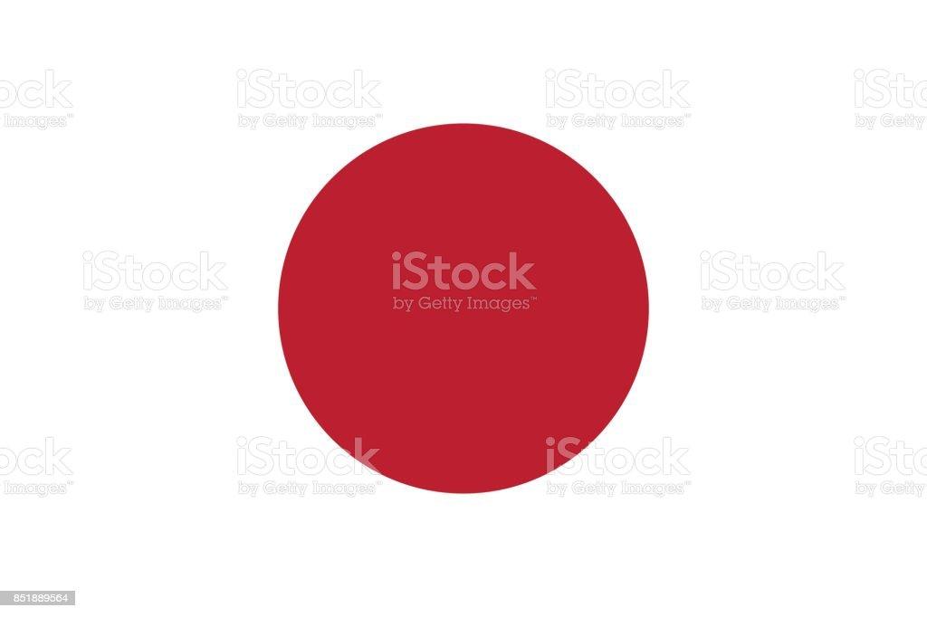 Vector de bandera japonesa en proporción y colores originales - ilustración de arte vectorial