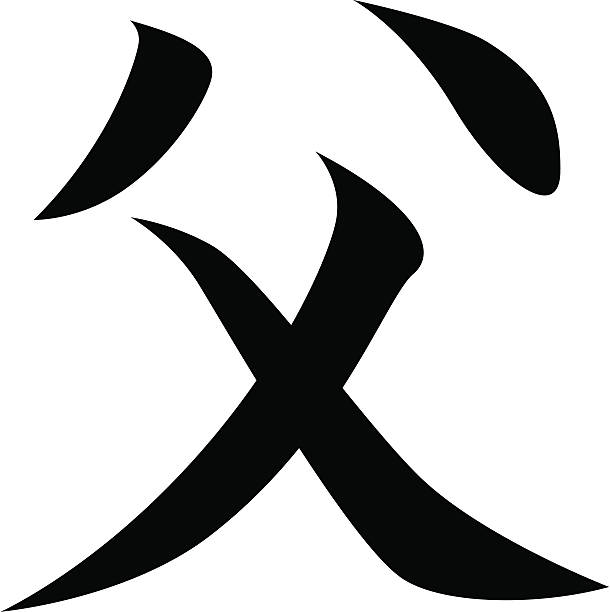 Vector Japanese Kanji Character Father Stock Vector Art More