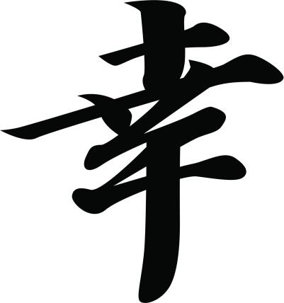 vector - Japanese Kanji character HAPPINESS