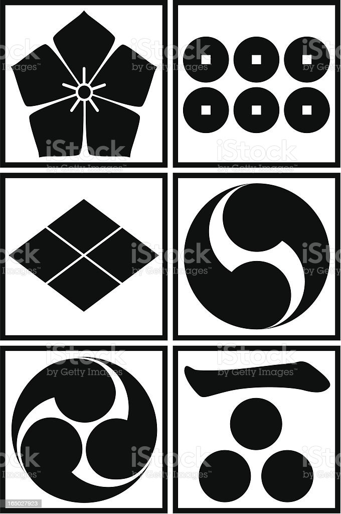vector - Japanese traditional pattern set royalty-free stock vector art