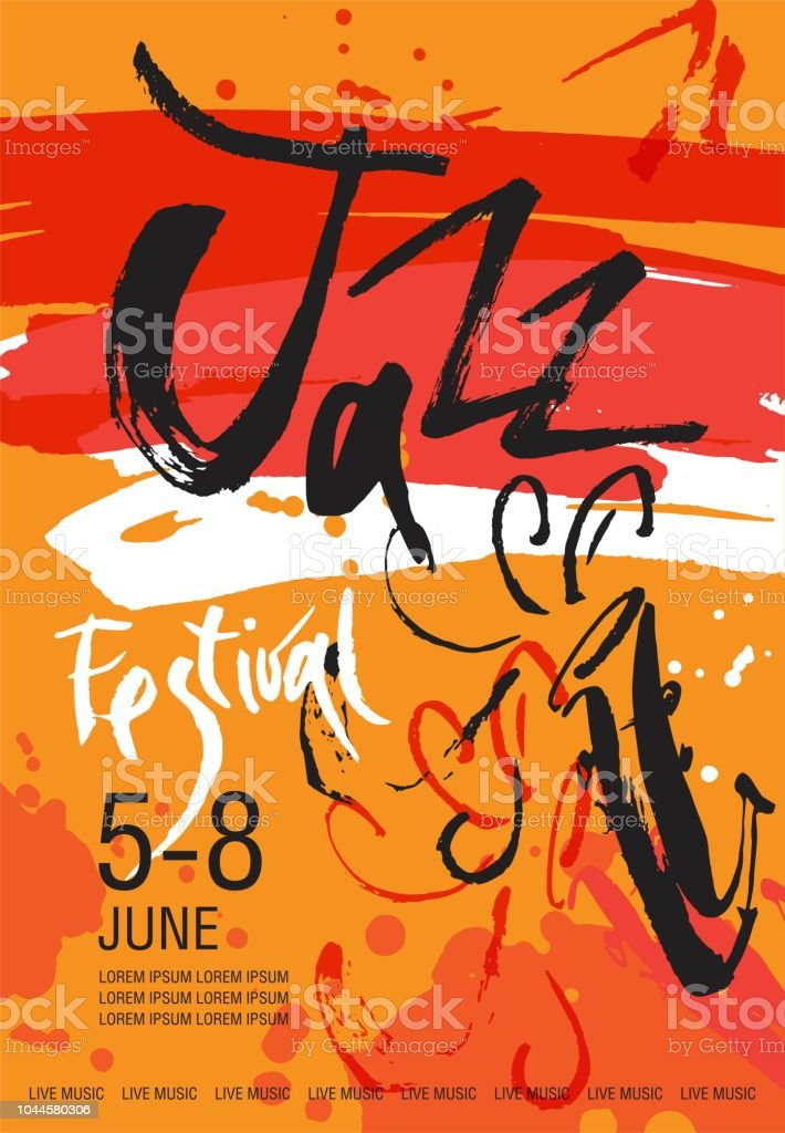 Vector Jazz festival poster template vector art illustration