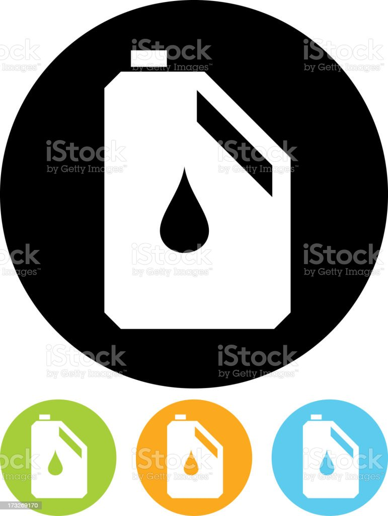Vector jerrycan icon royalty-free vector jerrycan icon stock vector art & more images of black background