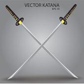 vector katana sword eps10