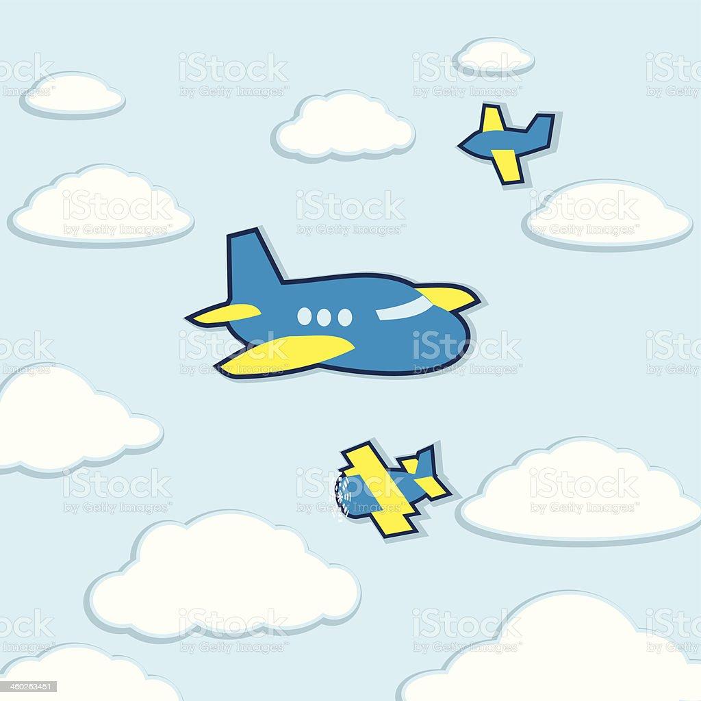 ベクトルかわいい漫画の飛行機 アイコンのベクターアート素材や画像を