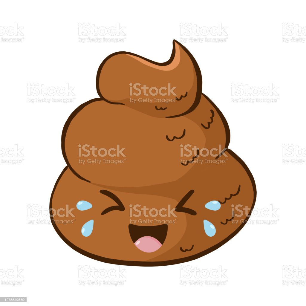 Ilustracion De Vector Kawaii Riendo Caca Emoji Pegatina Y Mas Vectores Libres De Derechos De Alegria Istock