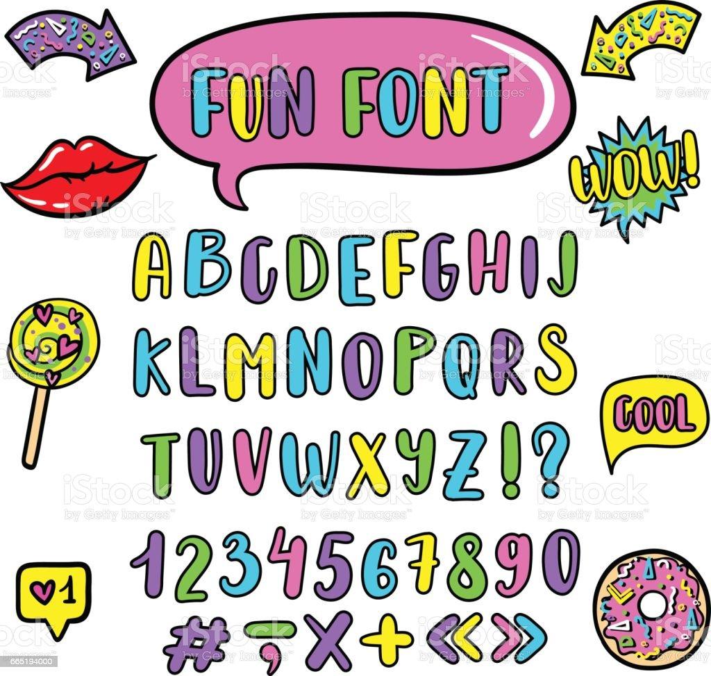 コミック スタイルでベクター子供の英語のアルファベットかわいい