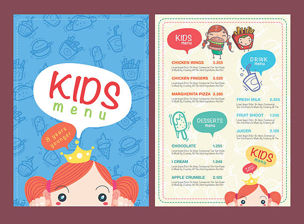 royalty free kid menu template backgrounds clip art vector images