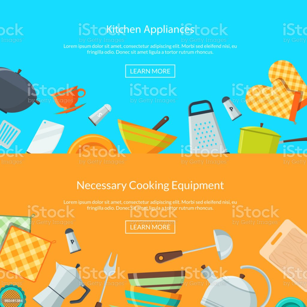 Vector Kitchen Utensils Icons Stock Vector Art & More Images of Clip ...