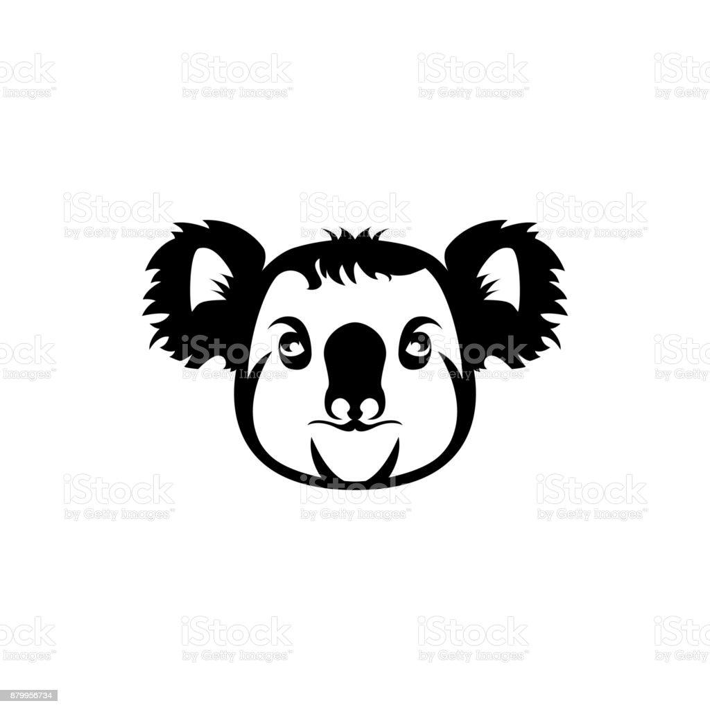 Ilustración de Silueta De Vector Koala y más banco de imágenes de ...