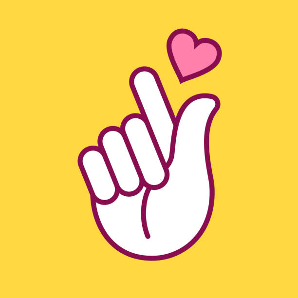 Korean Finger Heart Illustrations, Royalty-Free Vector ...