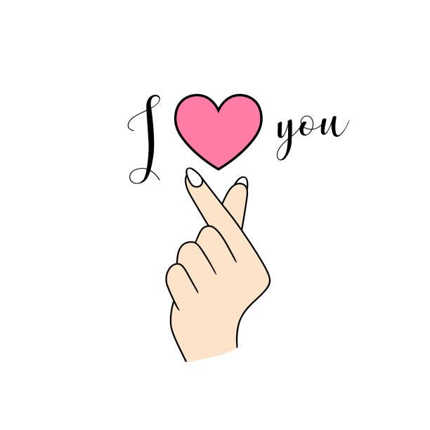 Download Royalty Free Korean Finger Heart Clip Art, Vector Images ...