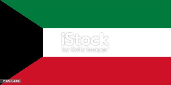 istock Vector Kuwaiti Flag Design 1205694986