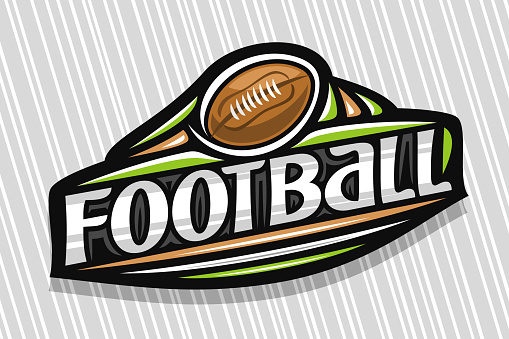 Vector label for American Football