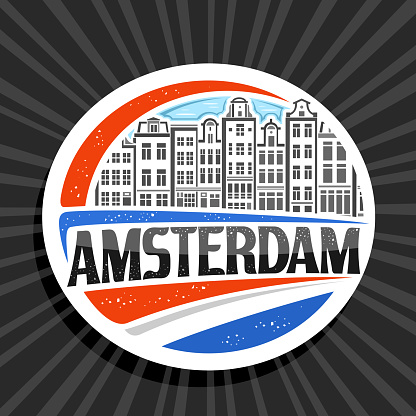 Vector label for Amsterdam