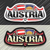 Vector label for Austria