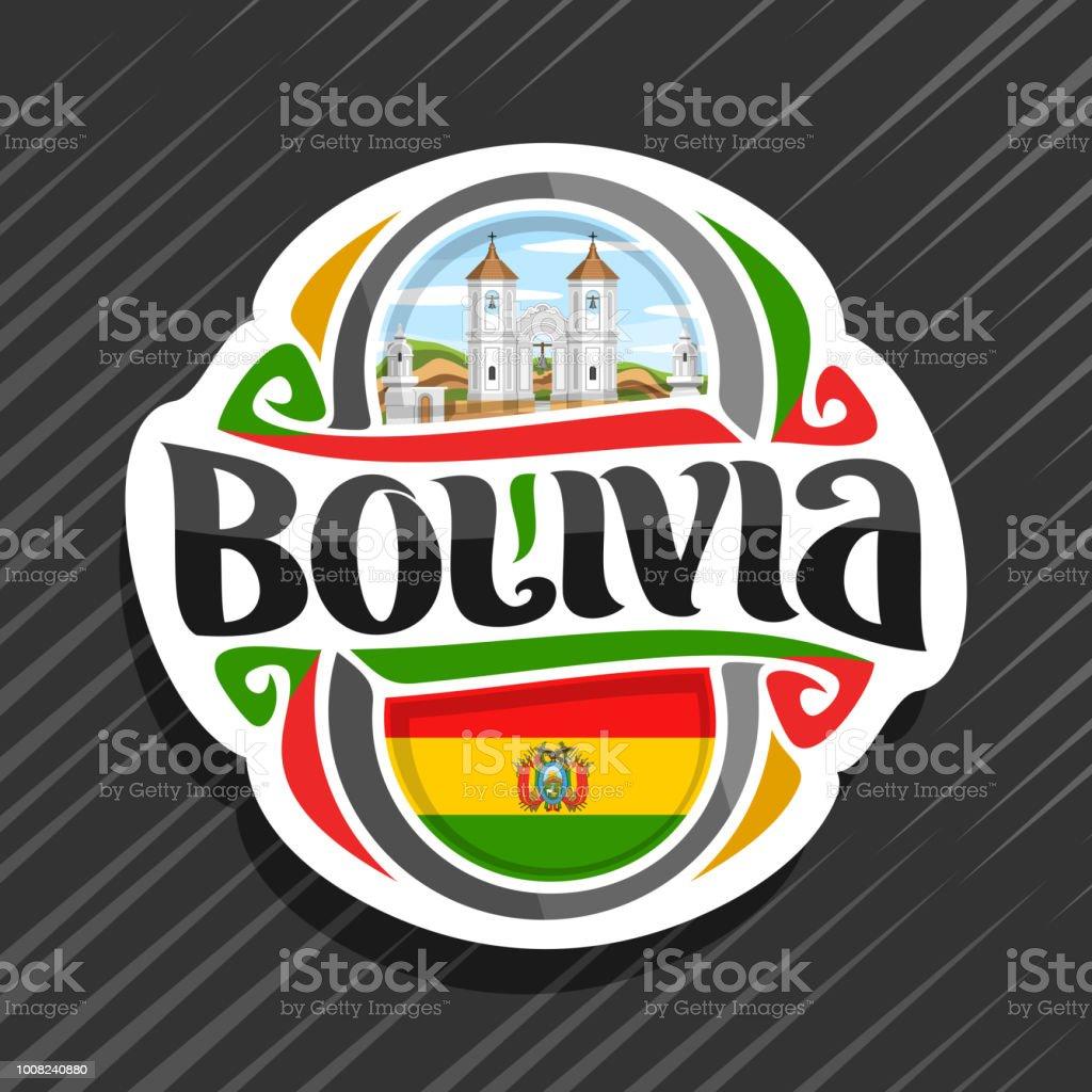 Etiqueta de vectores para Bolivia - ilustración de arte vectorial