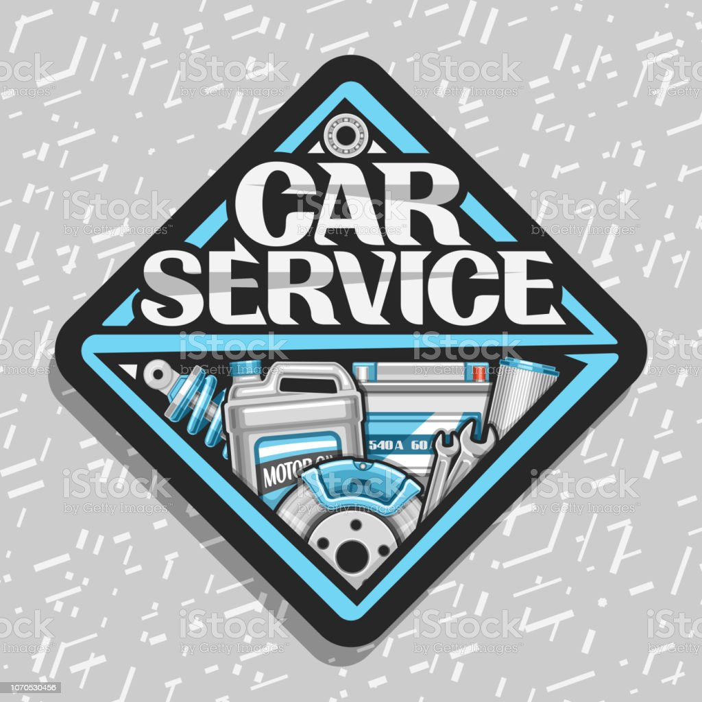 Vector label for Car Service vector art illustration