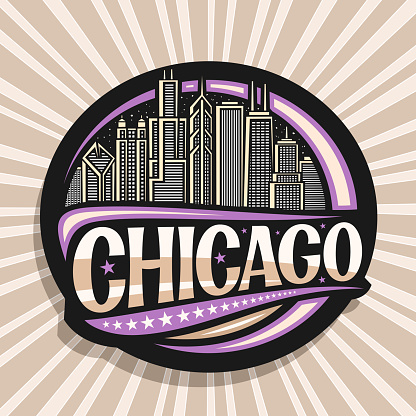 Vector label for Chicago