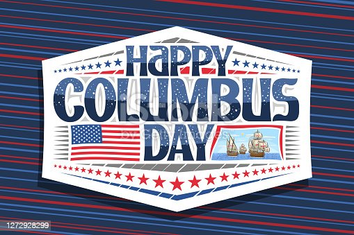 istock Vector label for Columbus Day 1272928299