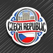 Vector label for Czech Republic