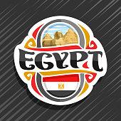Vector label for Egypt