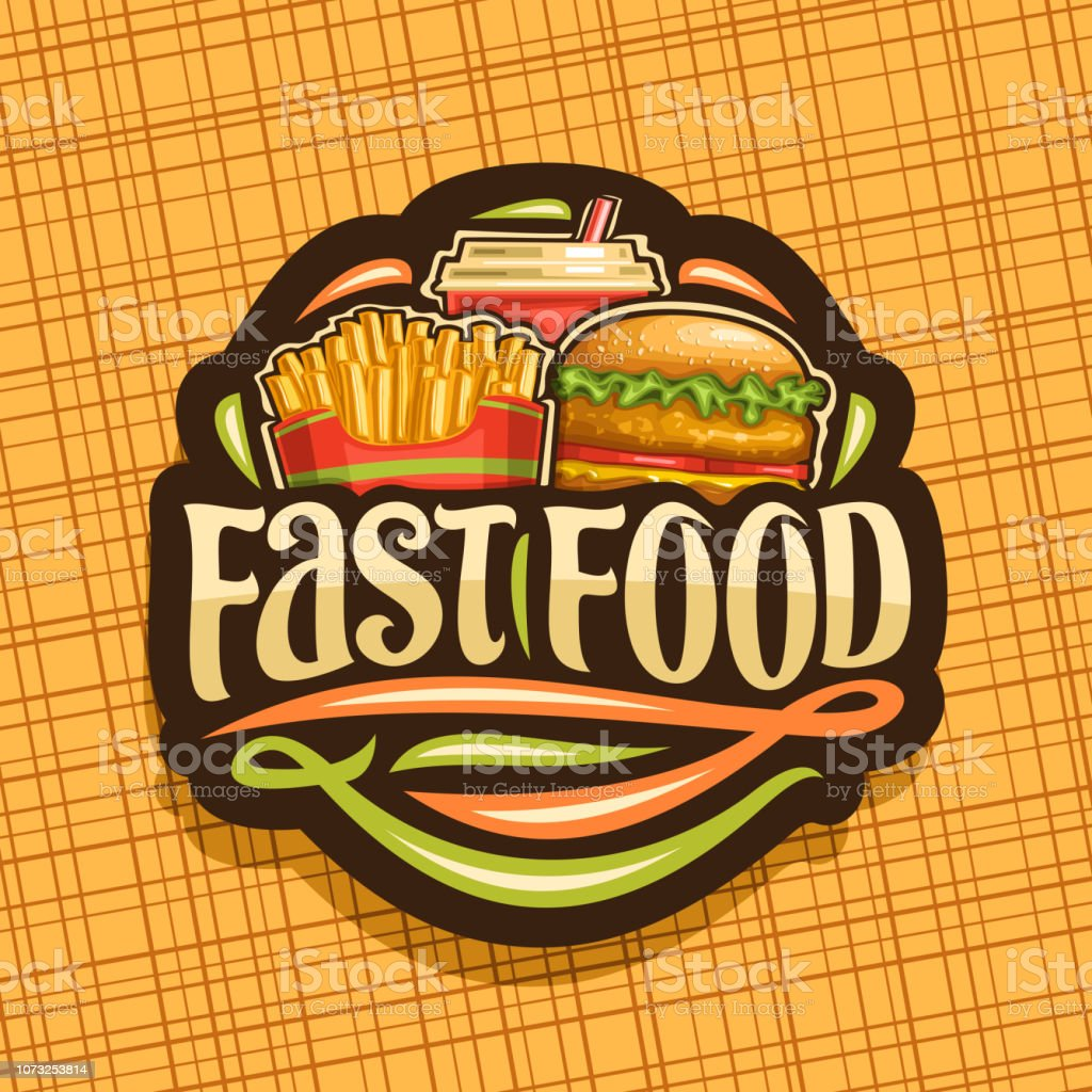 Vector label for Fast Food