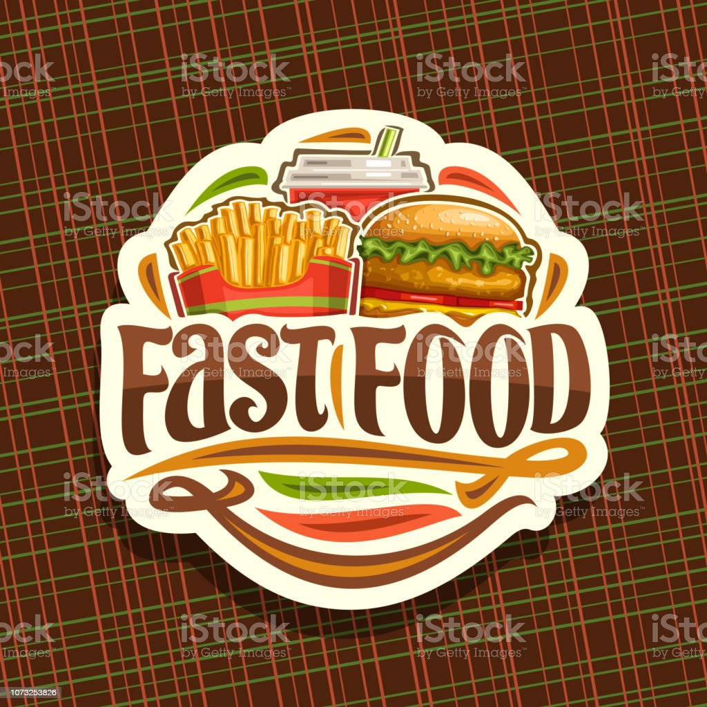 Vector Label For Fast Food Stock Illustration