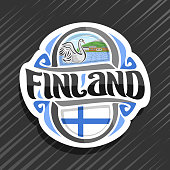 Vector label for Finland