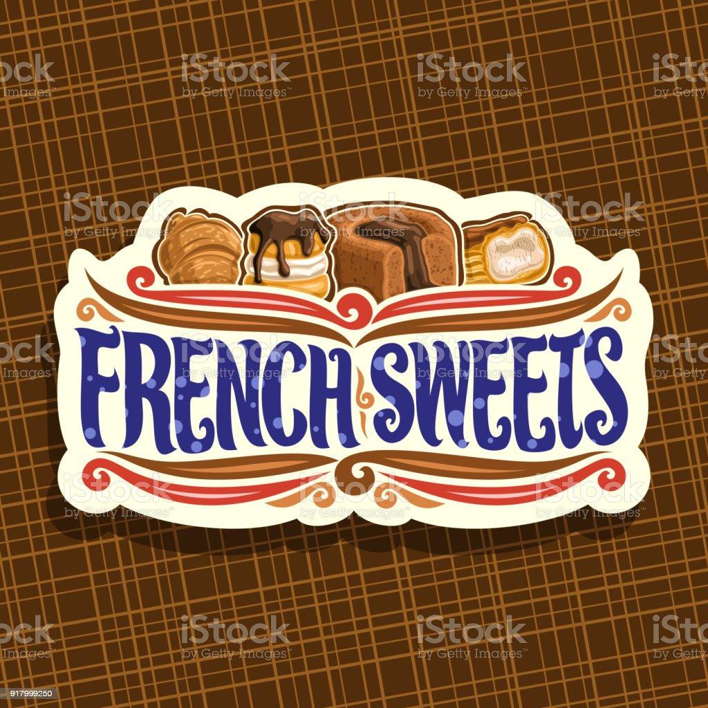 Vektorlabel Für Französisch Süßigkeiten Stock Vektor Art und mehr ...