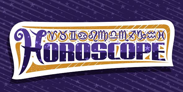 Vector label for Horoscope