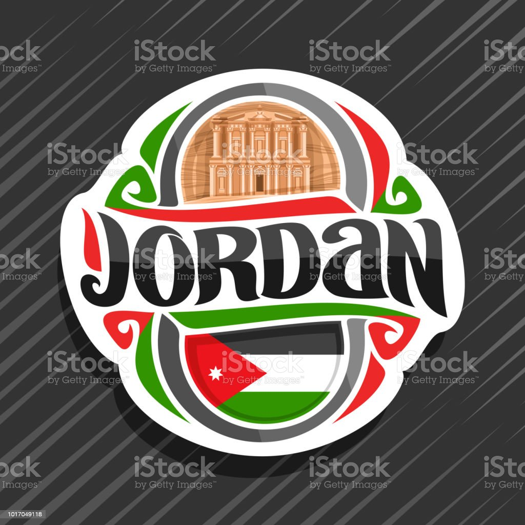 Vector Label For Jordan Country Stock Vector Art More Images Of