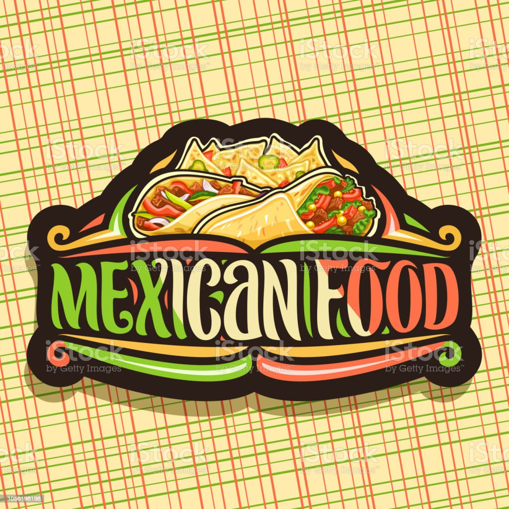 Vector Label For Mexican Food Stock Illustration