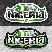 Vector label for Nigeria