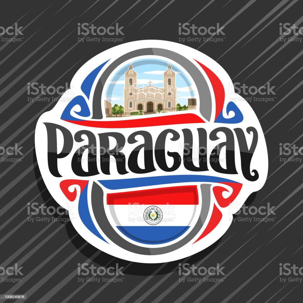 Etiqueta de vectores para Paraguay - ilustración de arte vectorial