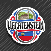 Vector label for Principality of Liechtenstein