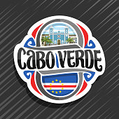 Vector label for Republic of Cabo Verde