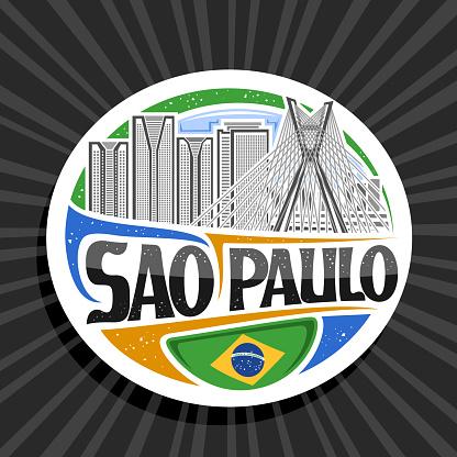 Vector label for Sao Paulo