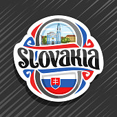 Vector label for Slovakia