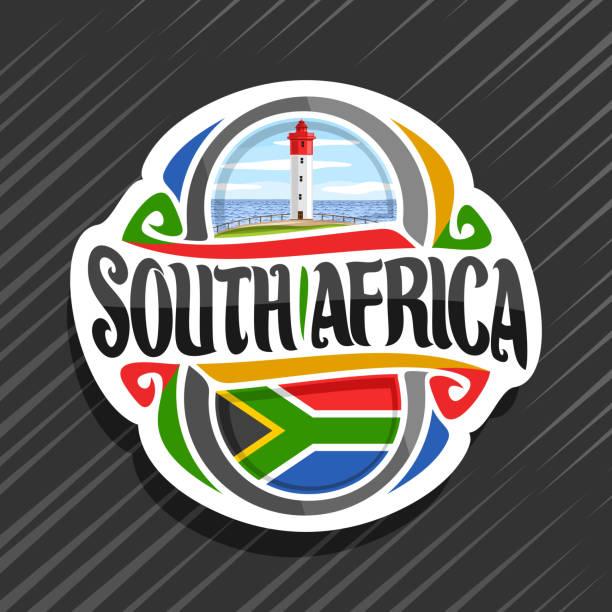 bildbanksillustrationer, clip art samt tecknat material och ikoner med vector etikett för sydafrika - south africa