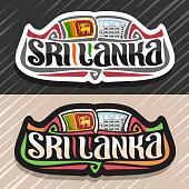 Vector label for Sri Lanka