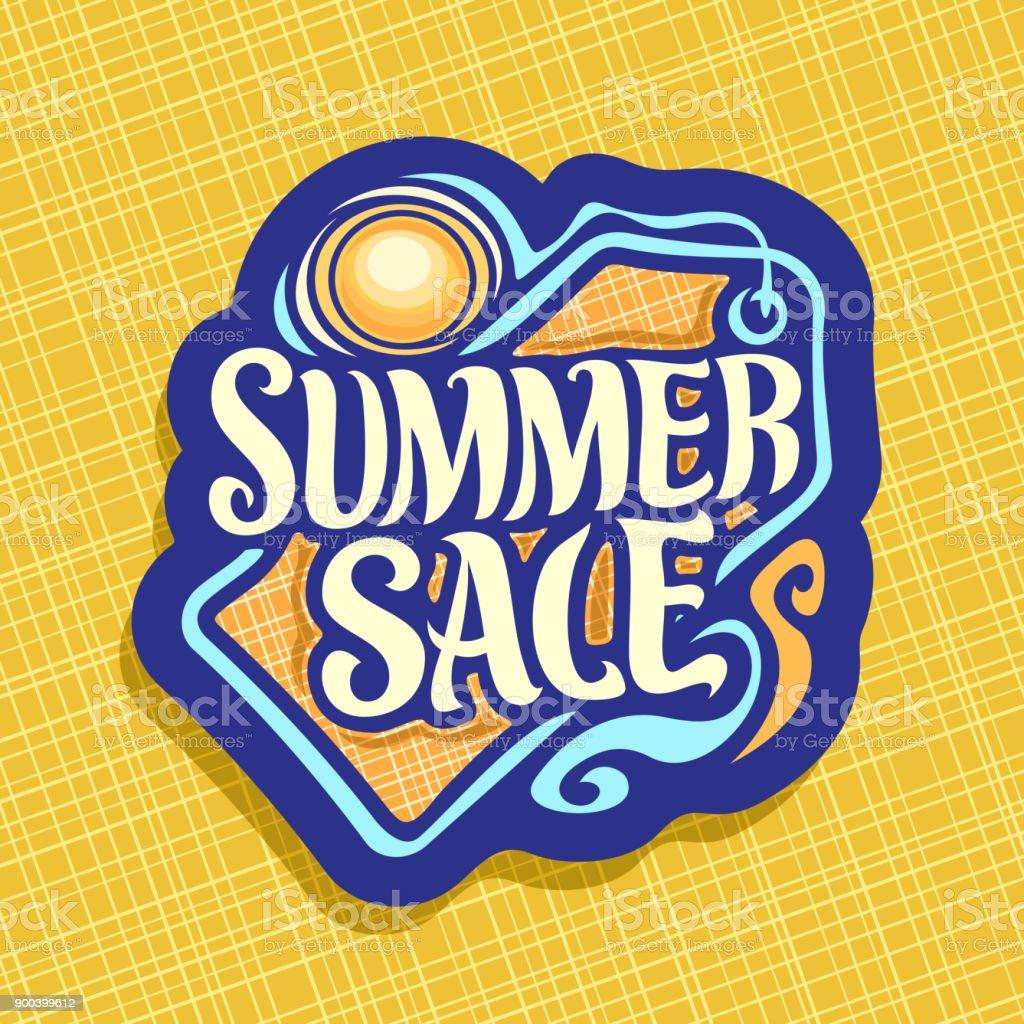 Vector label for Summer season Sale vector art illustration