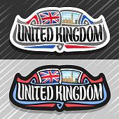 Vector label for United Kingdom