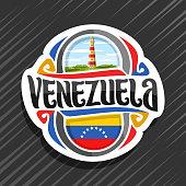 Vector label for Venezuela