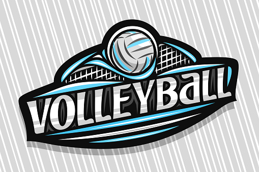 Vector label for Volleyball