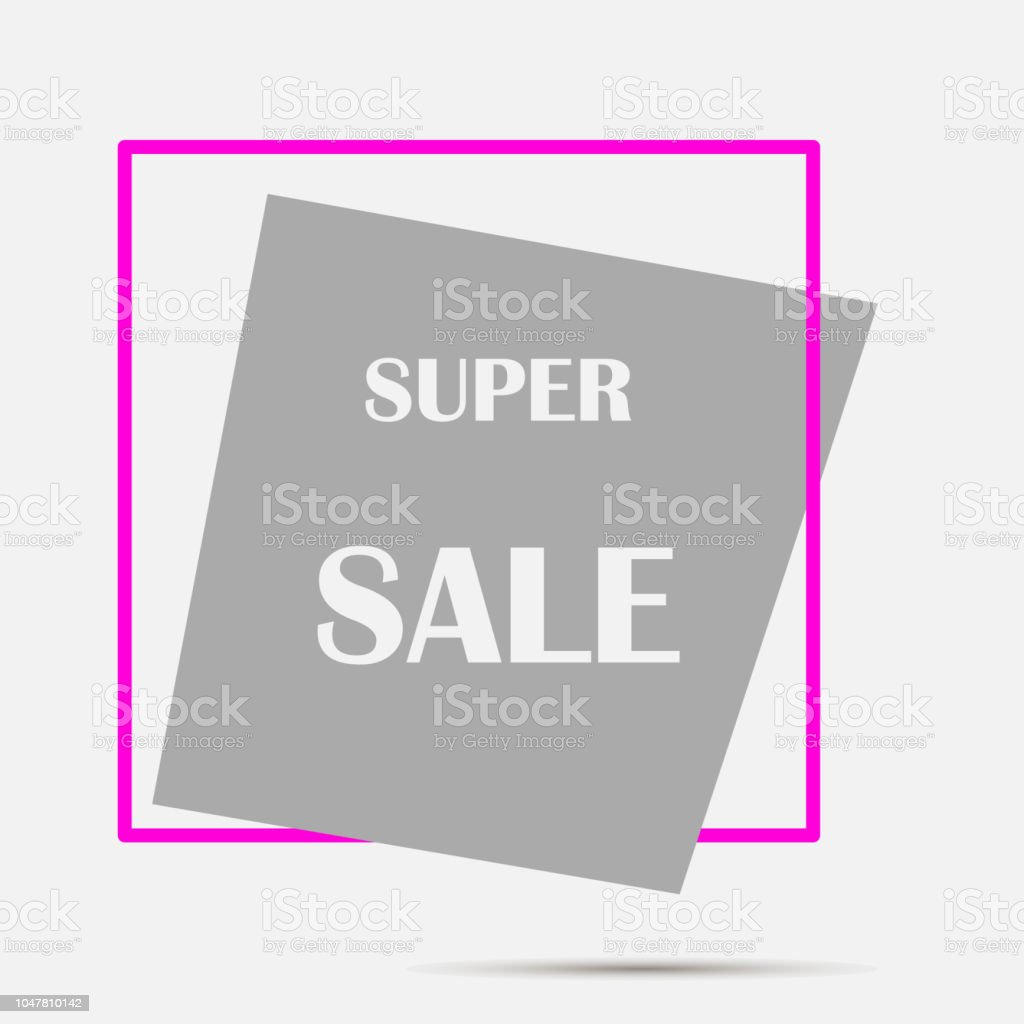 Vector Label Super Sale Layers Grouped For Easy Editing