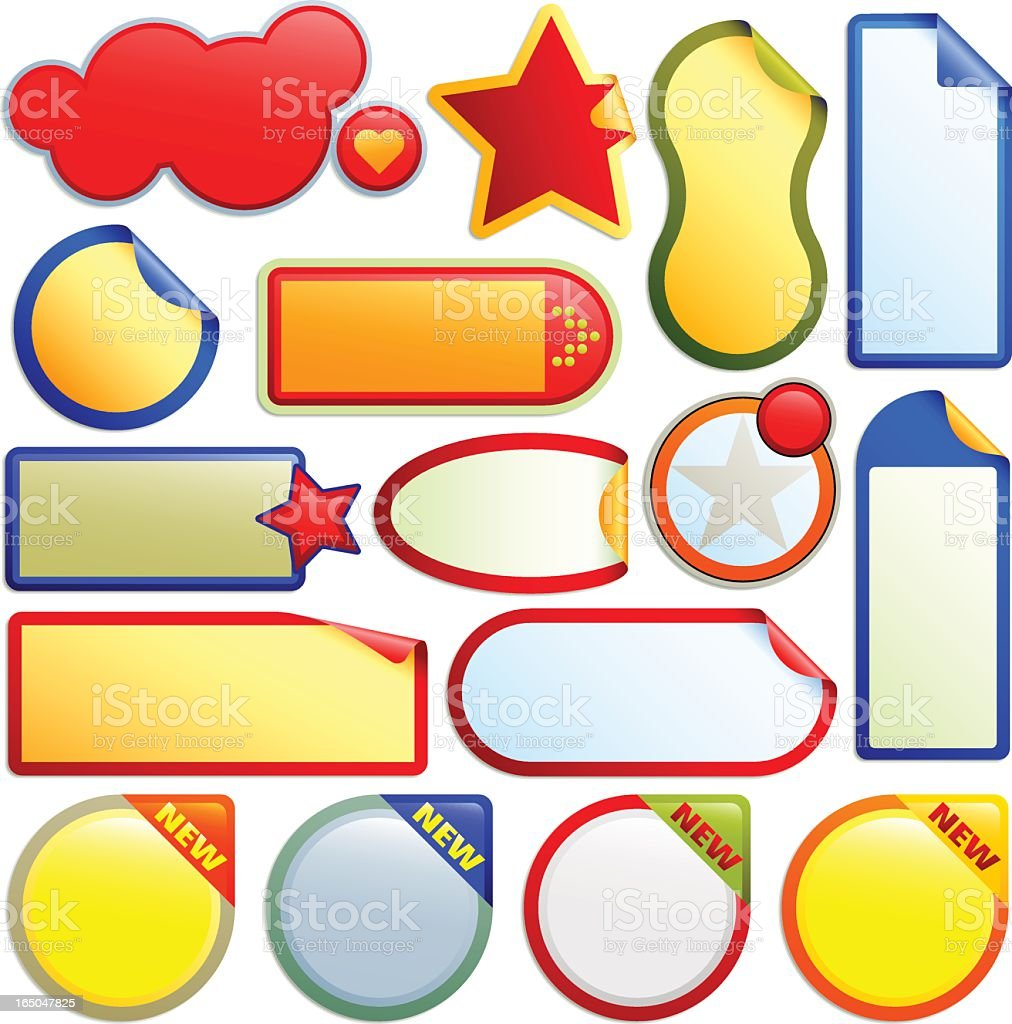 vector labels and buttons royalty-free stock vector art