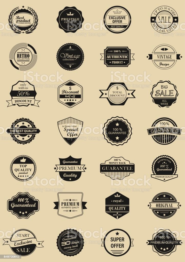 28 vector labels and logotypes.