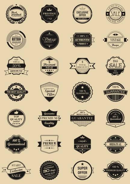 vector 28 étiquettes et logos. - Illustration vectorielle