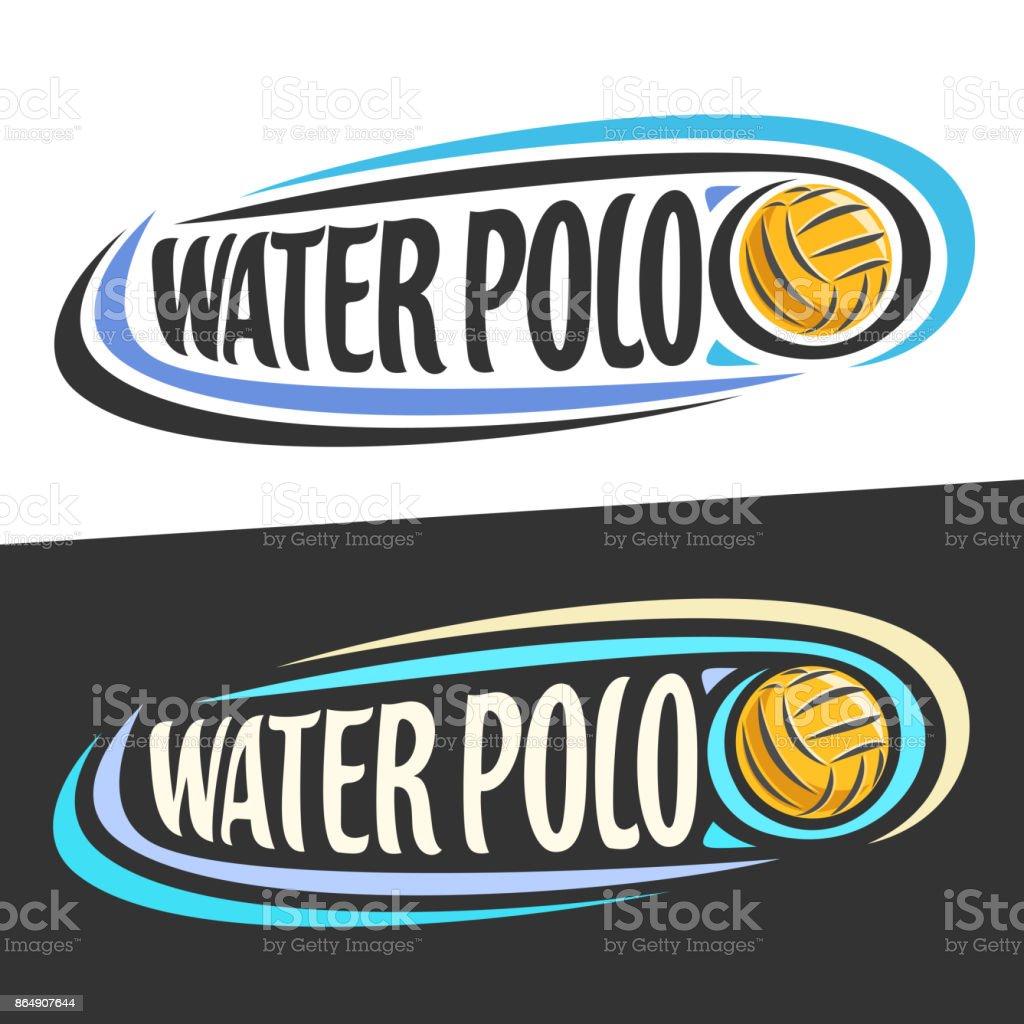 dbdb00810 Rótulos de vetor para o esporte de Polo aquático vetor de rótulos de vetor  para o